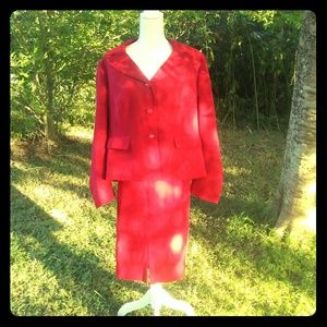 BOGO! Cato Red 2 piece skirt suit size 16W